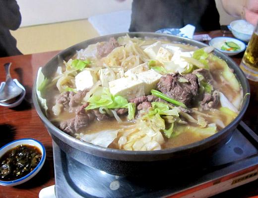 味噌仕立ての鍋