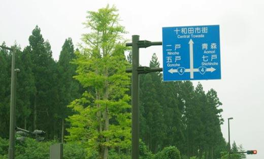 国道の案内図