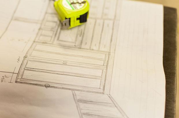 家具の設計図