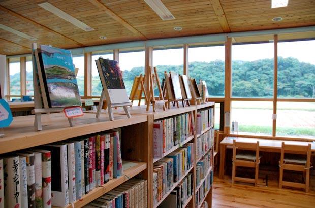 環境抜群の図書館