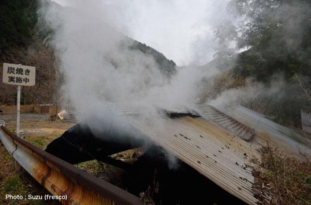 土佐山に伝わる炭焼き