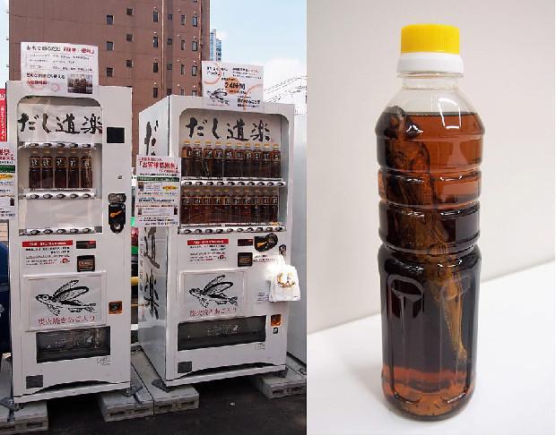 トビウオまるまる一匹入り!広島・呉の和風だし自動販売機「だし道楽」