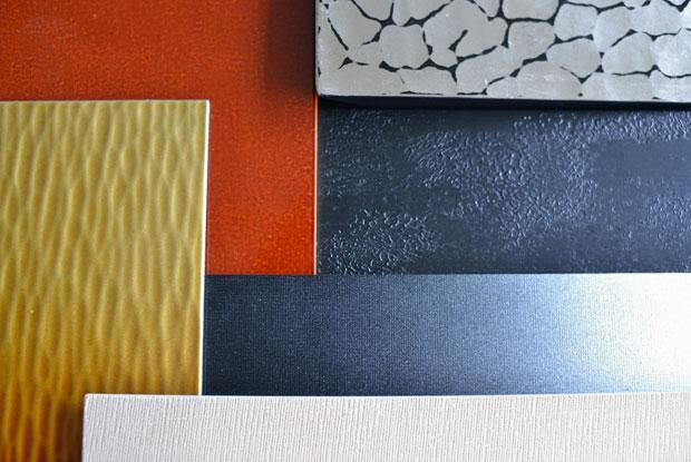 さまざまな素材に、加工と塗装を試験