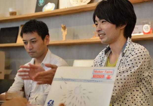 岩岡孝太郎さんと川井敏昌さん
