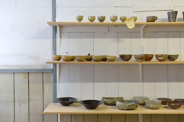 地元でつくられた陶器