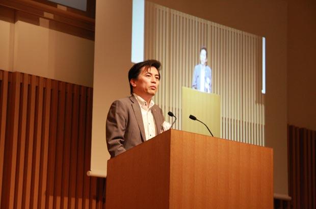 京都流議定書2013で講演する岡村社長
