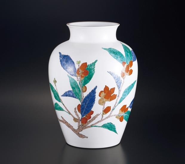 濁手 団栗文 花瓶(にごしで どんぐりもん かびん)