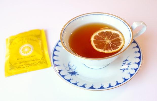 「フロートレモンティー」 山口県防府市から到着! 瀬戸内の輪切り乾燥レモンと 国産紅茶のセット