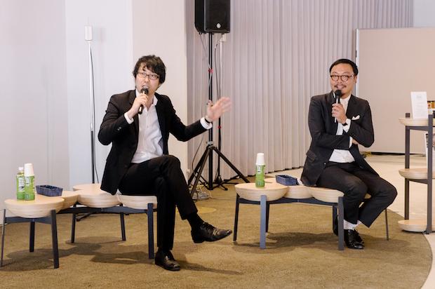 左から佐藤オオキさん、服部滋樹さん