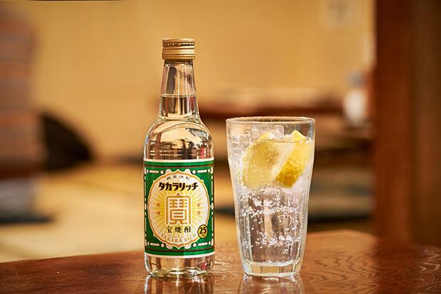 「タカラリッチ」のボトル