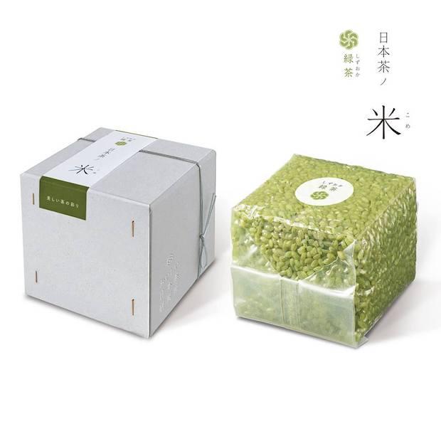 「日本茶ノ米 しずおか緑茶」300g(2合)入り 値段は1,000円 (税別)