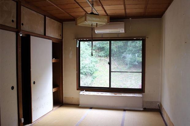 工事中の和室