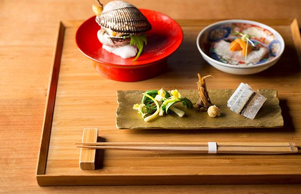別邸薪の音 金澤の料理。
