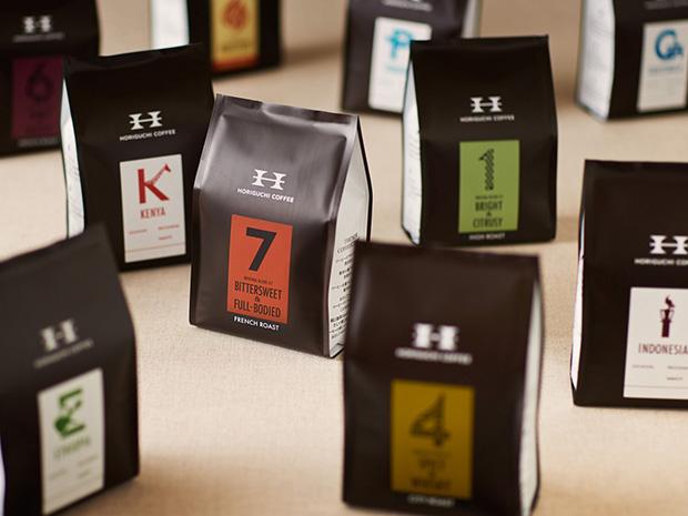 スペシャルティコーヒー専門店〈堀口珈琲〉のリブランディング。(写真提供:エイトブランディングデザイン)