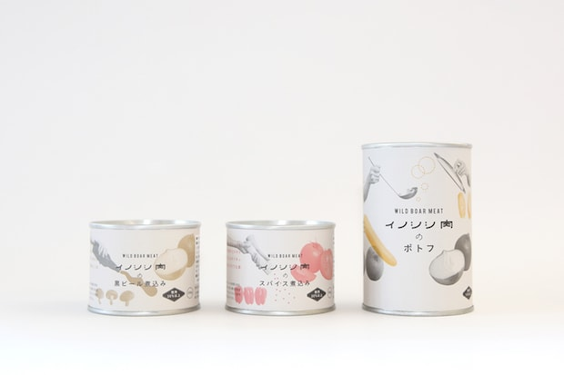 〈CUIIJI〉島根県美郷町でつくられるイノシシ料理の缶詰です。