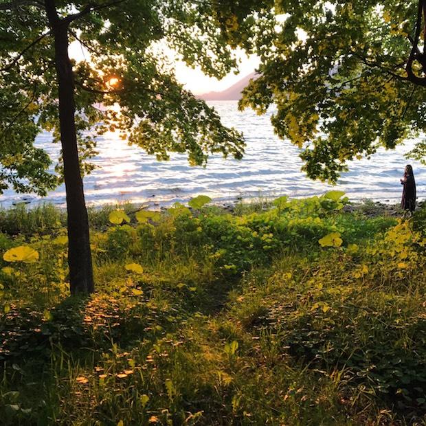 toitaから洞爺湖までは歩いてすぐ。