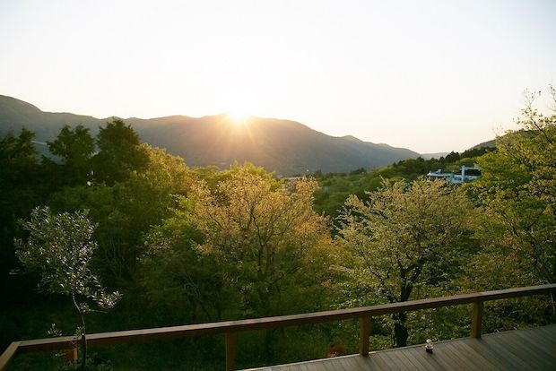 bio terrace ORGANiCA HAKONEからの景色。箱根では珍しい海の見えるホテル