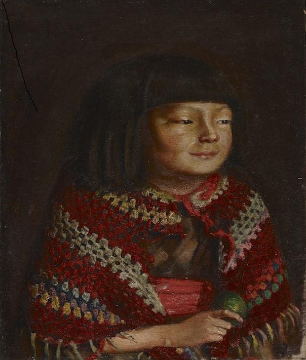 重要文化財『麗子微笑』岸田劉生筆 大正10年(1921)東京国立博物館蔵