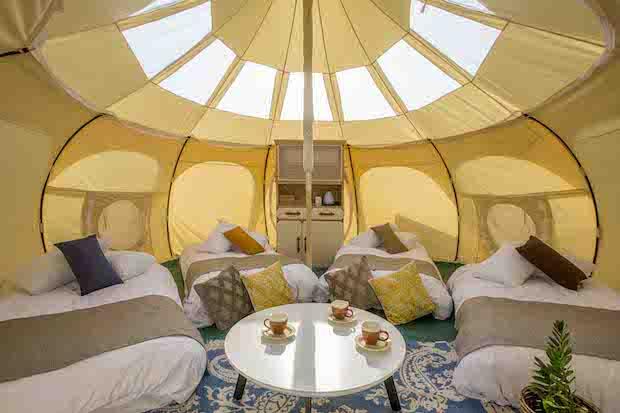 〈GLAMP ELEMENT〉テント内の様子