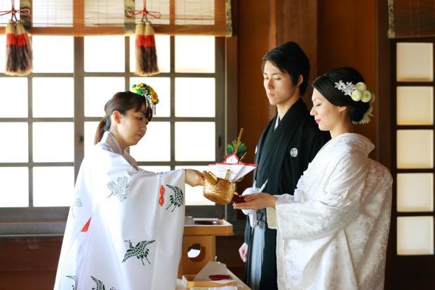「くまもと神社結婚式」での挙式の様子