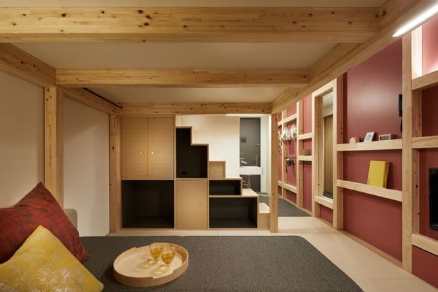 19平米程度の小さな客室の中に、コックピットのような多機能性を合わせ持った「YAGURA Room」