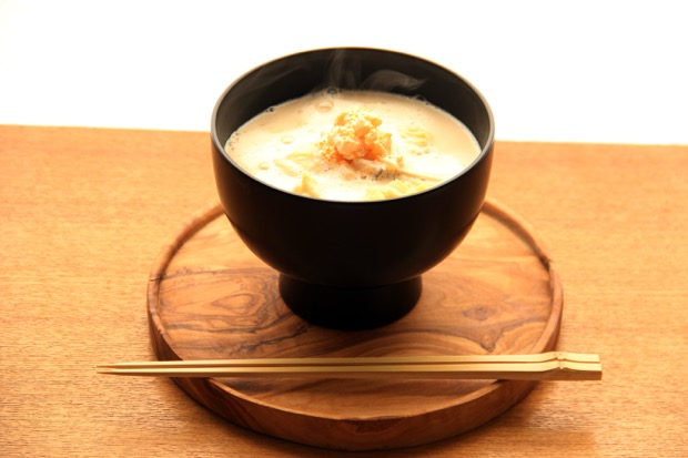 スペシャルおみそ汁 豆乳とホタテのとろーりみそポタージュ