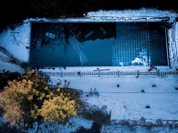 日光 天然氷 四代目徳次郎採取池