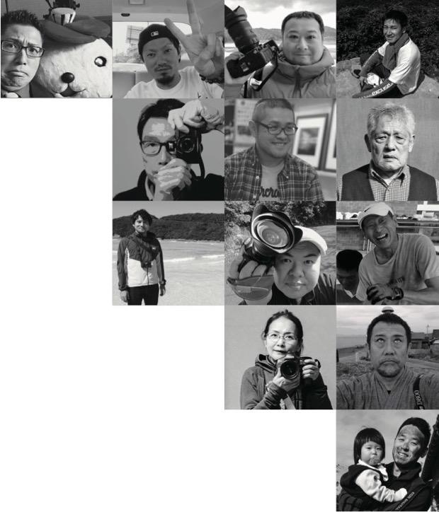 「毎日が絶景」PROJECT in 五島列島に参加している写真家さんたち(一部)