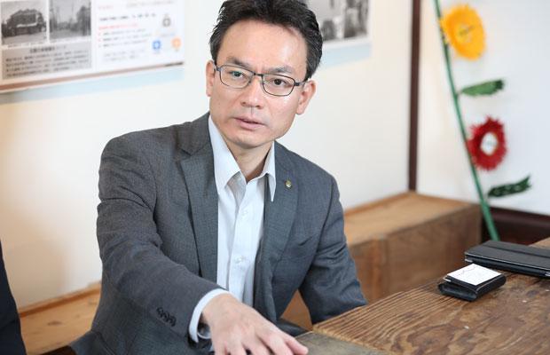 〈末広開発〉の社長・菅野克志さん。