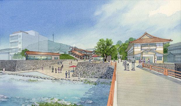 川辺には新たな雁木広場もつくられる。
