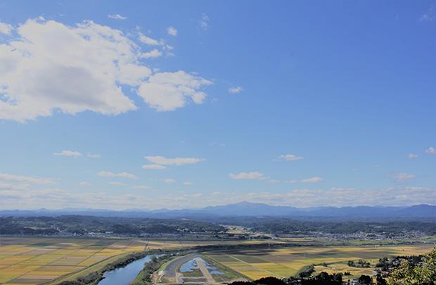 農林水産省が推進する「食と農の景勝地」に認定された一関市。美しい田園風景が広がります。