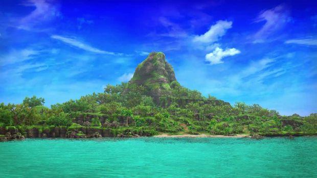 ゲームで再現された伊江島 (C) Aiming Inc.