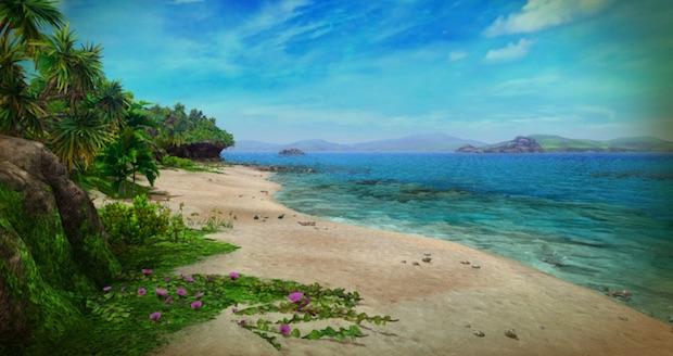島の南海岸に広がるビーチ (C) Aiming Inc.