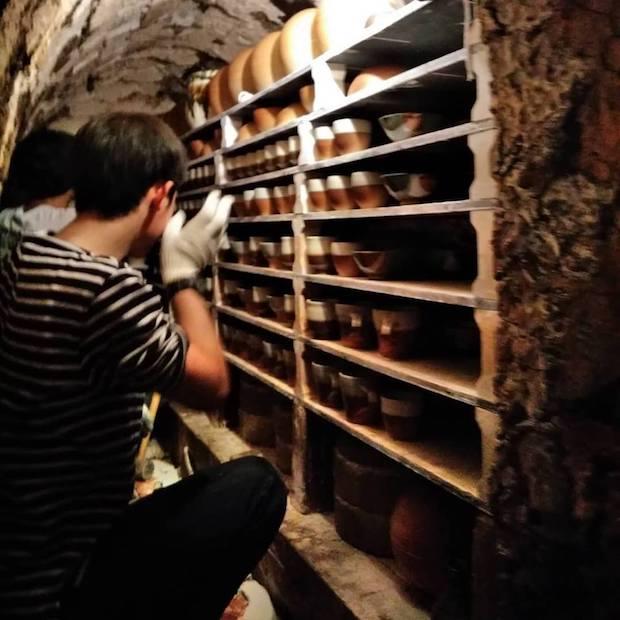 工房には登り窯もあり、年に数回窯焚きを行っています。