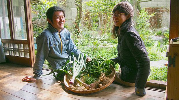 農家になった元シェアメイトが野菜を持ってきてくれることも。