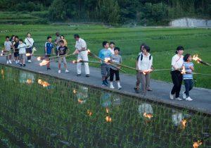 虫よけと豊作を祈願する、小豆島の伝統行事