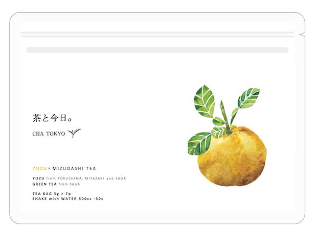 〈茶と今日。CHA TOKYO〉水出し柚子緑茶 1,080円 (5g/7P) 原材料:柚子(徳島、宮崎、佐賀) 緑茶(佐賀)