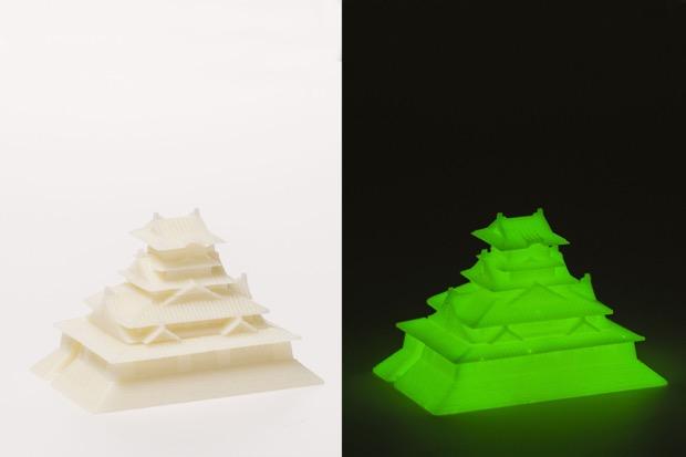 〈ゴトプラ〉大阪城 蓄光 暗闇でグリーンに光ります