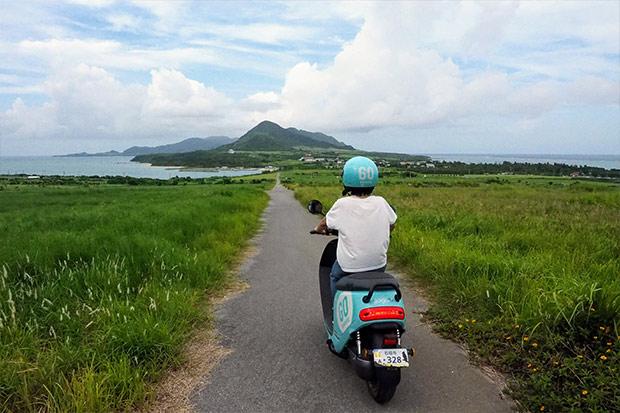 食材は見つからないけど絶景はたびたび見つける。左が東シナ海、右が太平洋。