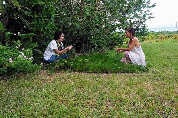 なんと最後は女優の吉本多香美さん宅。急きょうかがったのにフレンドリーに対応してくれた。