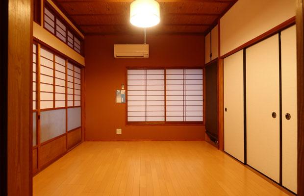 完成した島津ノイエ。和室をフローリングに変えて、断熱を強化しました。