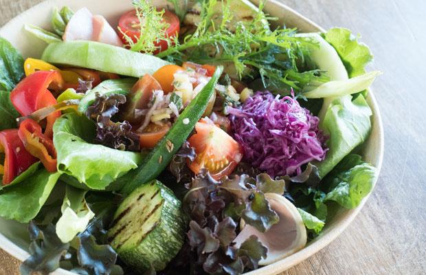 野菜は自家製率100%!