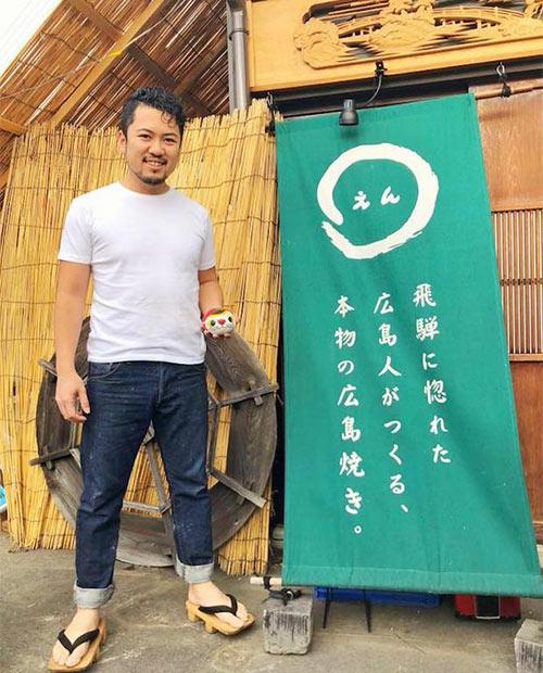 高原直也さん。現在は岐阜県飛騨市古川町で広島風お好み焼き屋を営みながら、ゲストハウスを建設中。