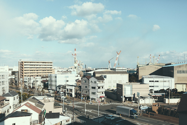 長田区南部と兵庫区南部の風景