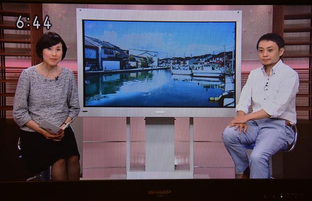 NHK富山放送局の番組に出演。
