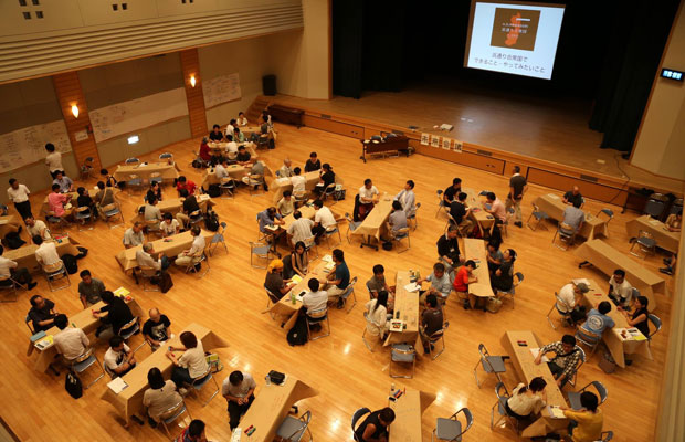 南相馬市小高区で開催された未来会議の様子。(2017年7月、撮影:霜村真康)