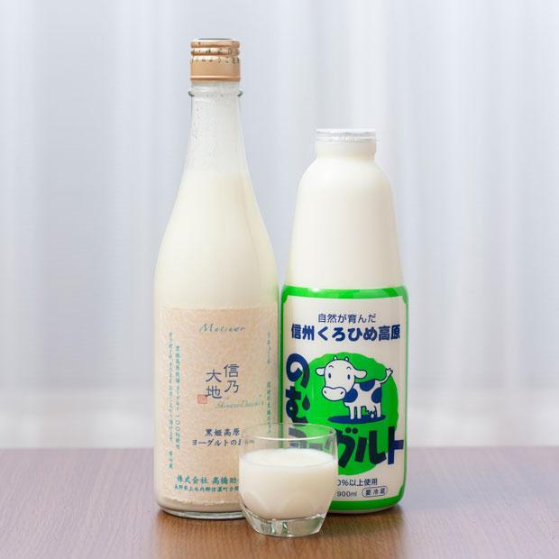 新感覚のヨーグルトのお酒〈信乃大地〉(720ml 1550円)。