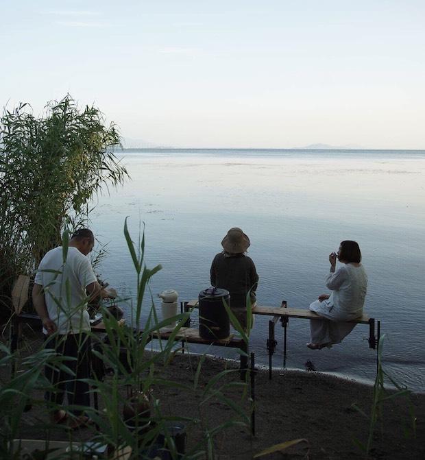 滋賀県で開催されたお茶会の様子。