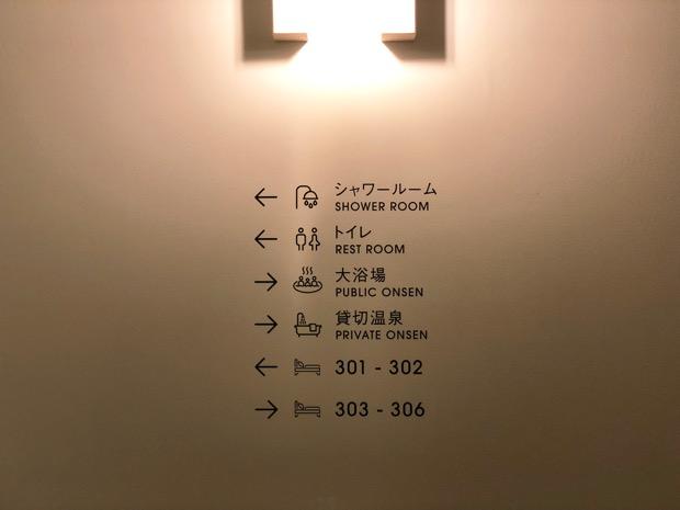 YUMORIの館内案内表示