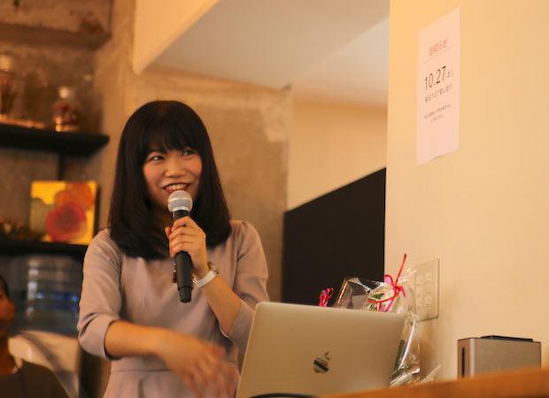 〈株式会社フォルスタイル〉の平井幸奈さんの起業ストーリー講演の模様